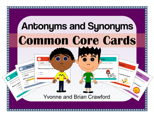 Antonyms and Synonyms Task Cards - Middle School by ...