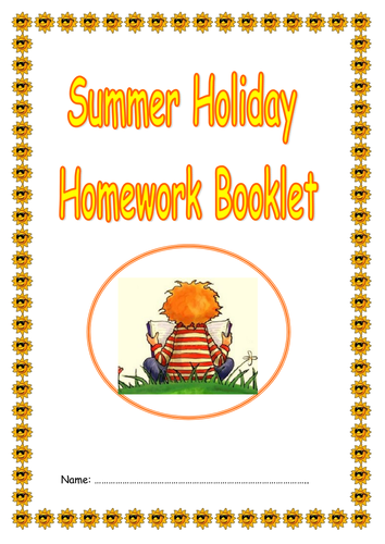 ks2 summer holiday activity homework booklet by jessplex teaching resources. Black Bedroom Furniture Sets. Home Design Ideas