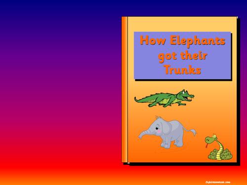 How Elephants got their Trunks (The Elephant's Child) story pack.