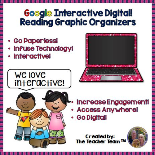 Google Classroom Reading Graphic Organizers for Google Drive