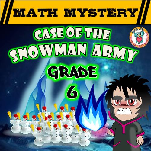 Winter Math Mystery (GRADE 6)