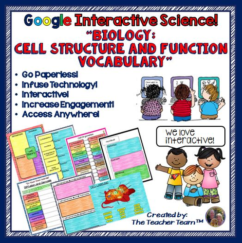 Google Drive Biology -Cell Structure and Function for Google Classroom