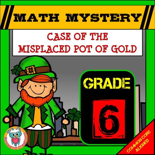 St Patrick's Day Math Mystery (GRADE 6)