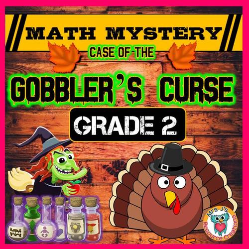 Thanksgiving Math Mystery (GRADE 2)