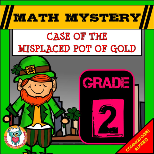St Patrick's Day Math Mystery (GRADE 1) By JJResources