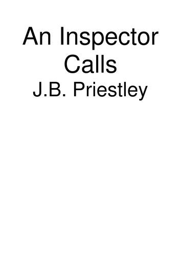 An Inspector Calls - Key Quotations + Detailed Analysis
