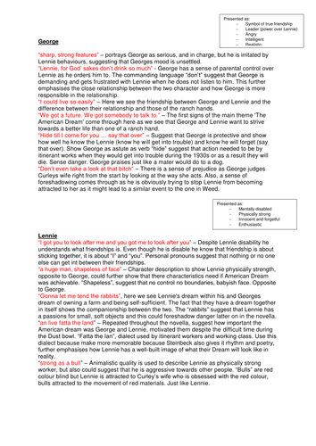 Of Mice and Men - Key Quotations + Detailed Analysis