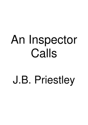 An Inspector Calls Revision Guide