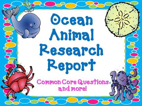 Ocean Animals Research Report by theteacherteam - Teaching Resources ...