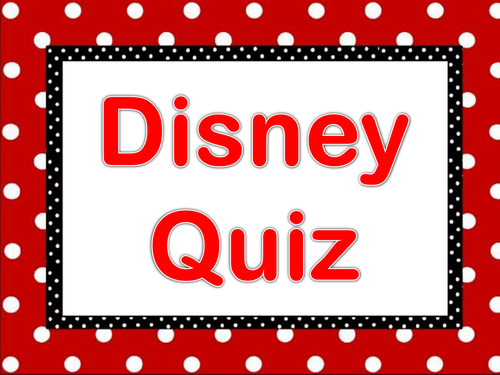 Form Time Quiz- Disney