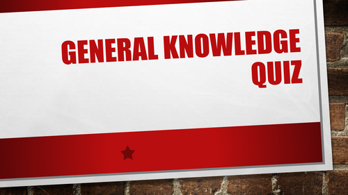 Form Time General Knowledge Quiz