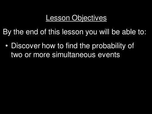 Listing outcomes (probability of multiple events)