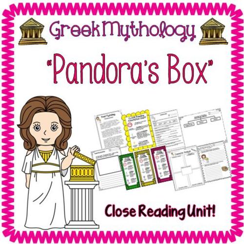 Greek Mythology Pandora's Box Close Reading Packet