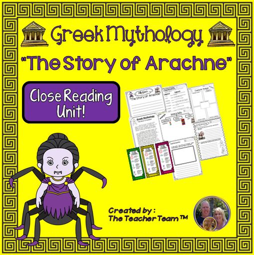 Greek Mythology The Story Of Arachne Packet Greek Mythology The Story Of Arachne Packet