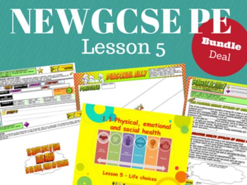 NEW Edexcel GCSE PE Unit 2 - Topic 1 - Lesson 5 BUNDLE PACK