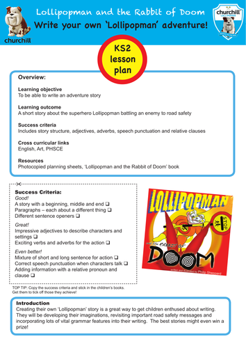 'Lollipopman - Superhero of the Highway' : road safety super hero resources and lesson plans