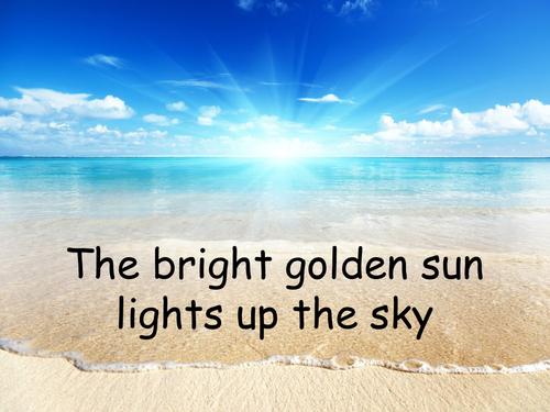 Holiday/beach/seaside sensory poem powerpoint