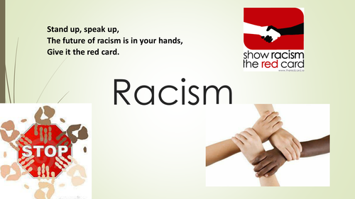 KS2/KS3  Racism Assembly SAY NO TO RACISM powerpoint  including Poetry, Video Link and Prayer
