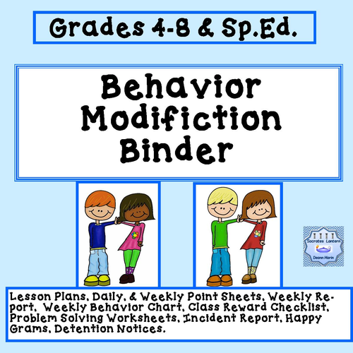 Behavior Modification Binder ( Elementary, Middle, High School & Special Education)