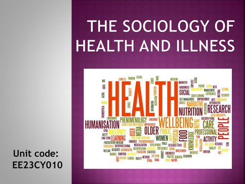 Sociology- Introduction to health,  Inequalities in health (ethnicity)