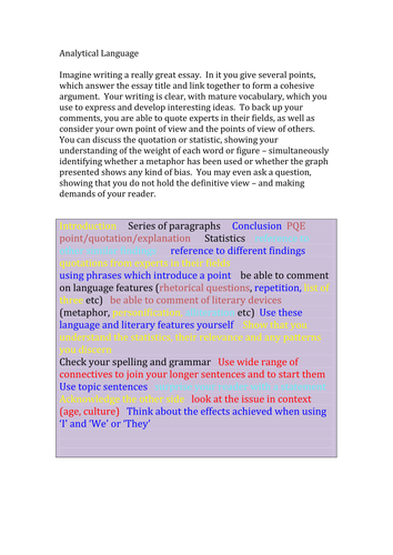 Essay writing on media