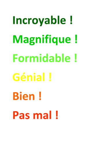 French comments