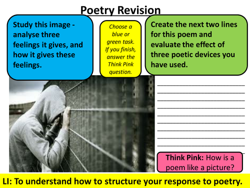 AQA New Specification English Literature: Unseen Poetry Booklet