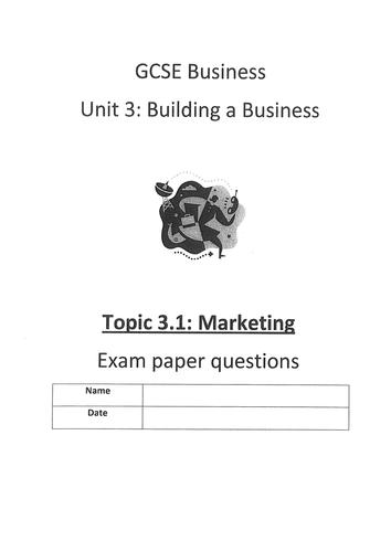 Edexcel GCSE (2009) Unit 3 end of topic test 3.1 Marketing