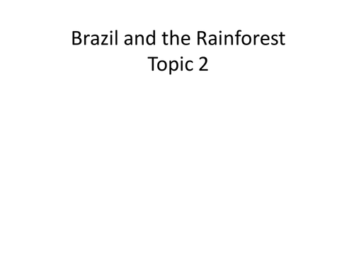 PHYSICAL AND HUMAN GEOGRAPHY OF BRAZIL