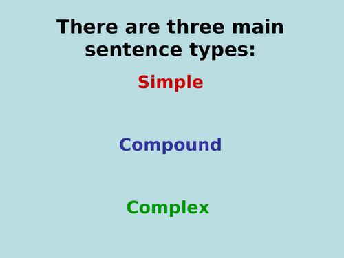 Sentence structure PowerPoint KS 2