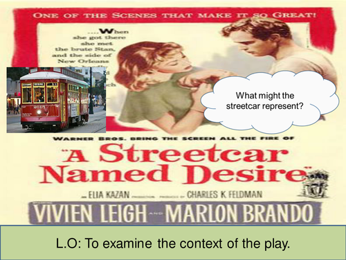 streetcar named desire assessment of the 4 a teacher's guide to the signet edition of tennessee williams's a streetcar named desire introduction teaching the play although a streetcar named desiremight seem to be a simple play about rather.