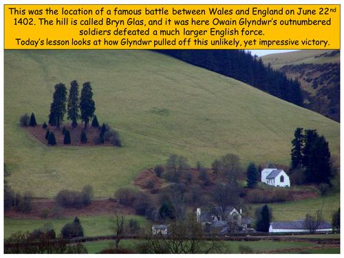 Why did Owain Glyndwr win the Battle of Bryn Glas?