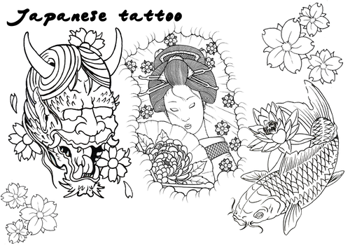 Japanese Tattoo flash art