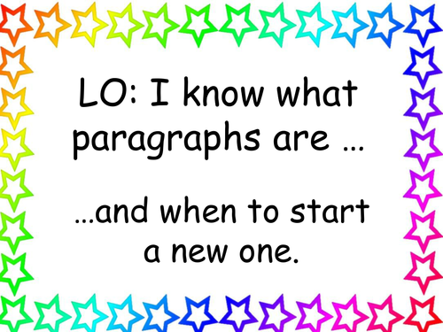Paragraphs 2 fiction / story writing
