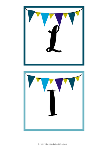 Classroom Display Titles - Instant Whole Class Display (literacy, welcome etc) Bunting Style