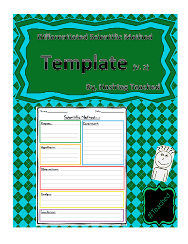 Differentiated Scientific Method Template (Version 2)