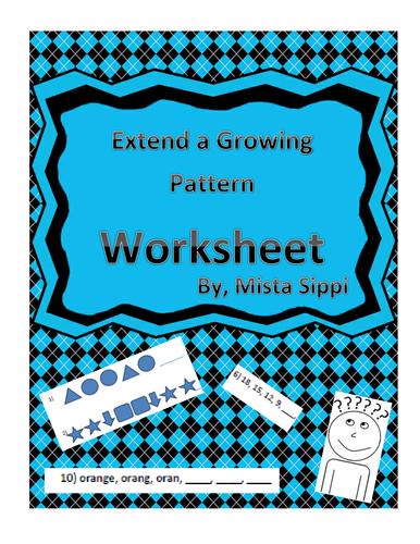 Extend A Growing Pattern Printable Worksheet