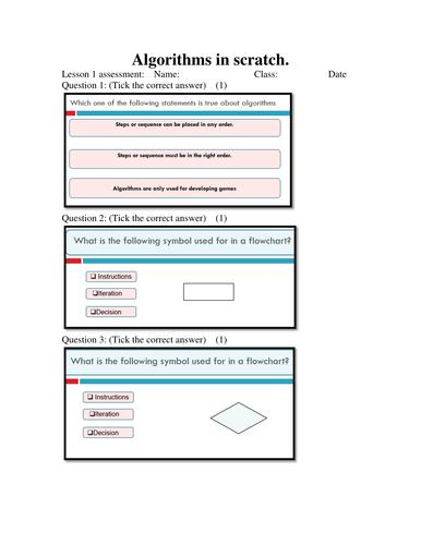 Algorithms in Scratch Lesson 1
