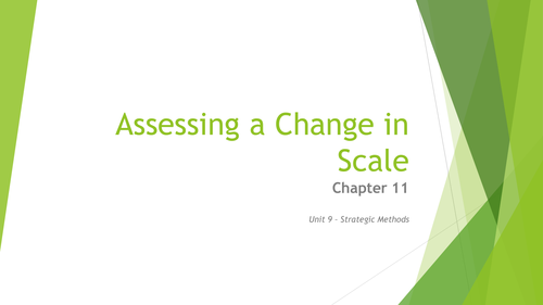 AQA A-Level Business - Unit 9 - Assessing a Change in Scale