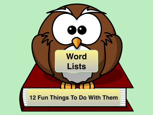 Using The National Curriculum Words Lists - Years 3/4 and Years 5/6