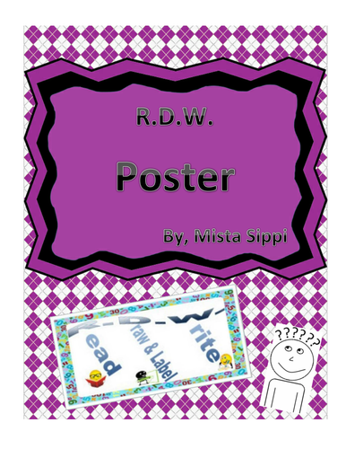 RDW Poster for Eureka/EngageNY (Read, Draw and Label, Write)
