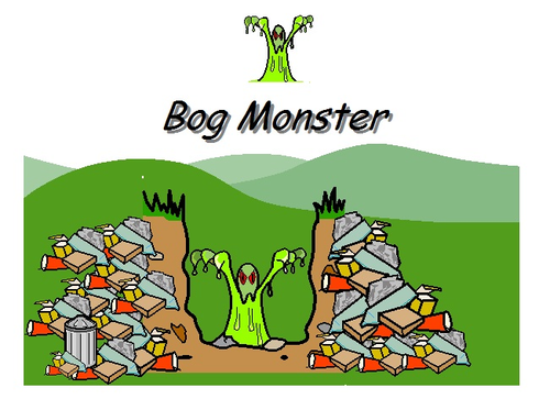 3 Symbol Supported Stories from the Bog Monster Series BUNDLE