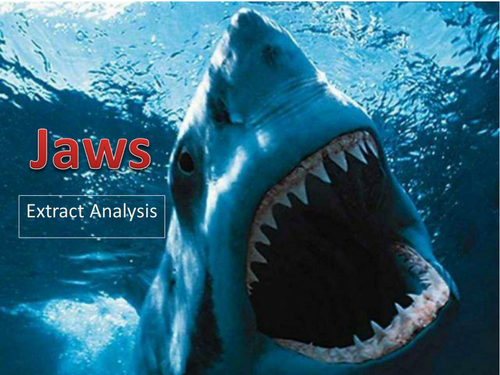 Jaws - Complete Summer Film Extract Lesson