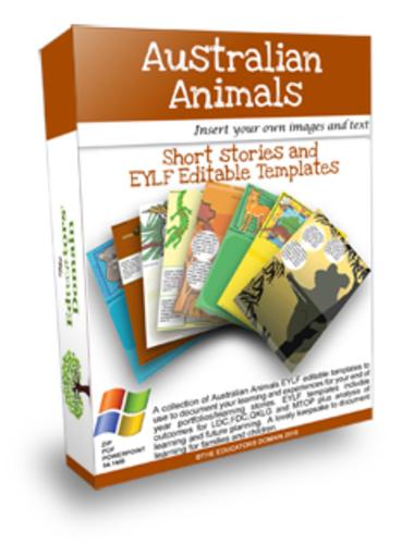 Australian Animals, Activites and Short Stories