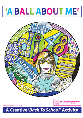 All About Me Back To School Fun Football Doodle Art Activity