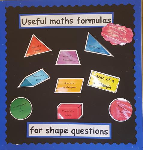 Maths formula display
