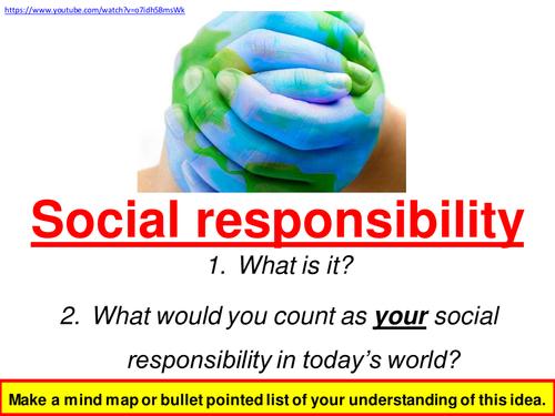 An Inspector Calls - Social Responsibility