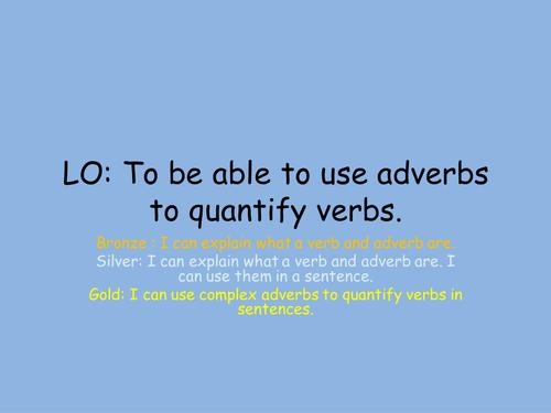 UKS2 Adverbs grammar lesson