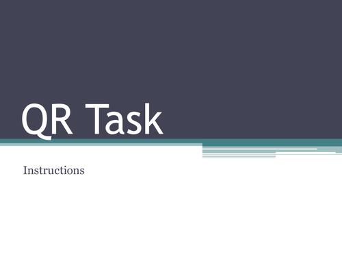 Berlin Blockade QR Code task/homework/revision tool