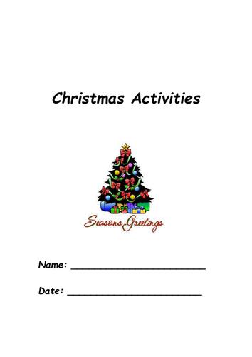 Printable Christmas Activities.Printable Christmas Activity Pack